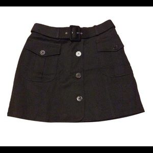 Moschino Skirts - Moschino Black Belted Button Front Mini